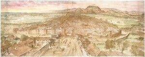 Alcalá de Henares en 1565 - Anton Van den Wyngaerde (Antonio de las Viñas)