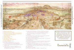 Alcalá de Henares en 1565 - Anton Van den Wyngaerde (Antonio de las Viñas) - leyenda