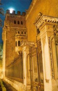 FB Palacio Arzobispal desde la Plaza de las Bernardas una noche de luna llena (foto David Garrido Cobo)