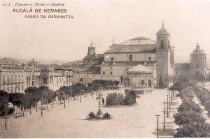 La Plaza de Cervantes en 1910 - vista hacia el sur (tarjeta postal)
