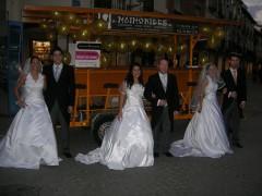 ¡Recién casados en nuestro bicibús!