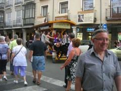 Bicibús por la calle Mayor y la Plaza Cervantes