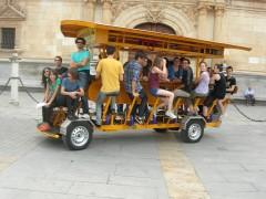 Estudiantes de Estados Unidos en nuestro bicibús