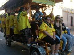 ¡Las peñas de Alcalá se animan en el bicibús!
