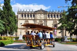 En el bicibús frente a la Universidad de Alcalá de Henares
