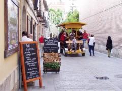 Nuestro bicibús por el casco histórico de Alcalá de Henares